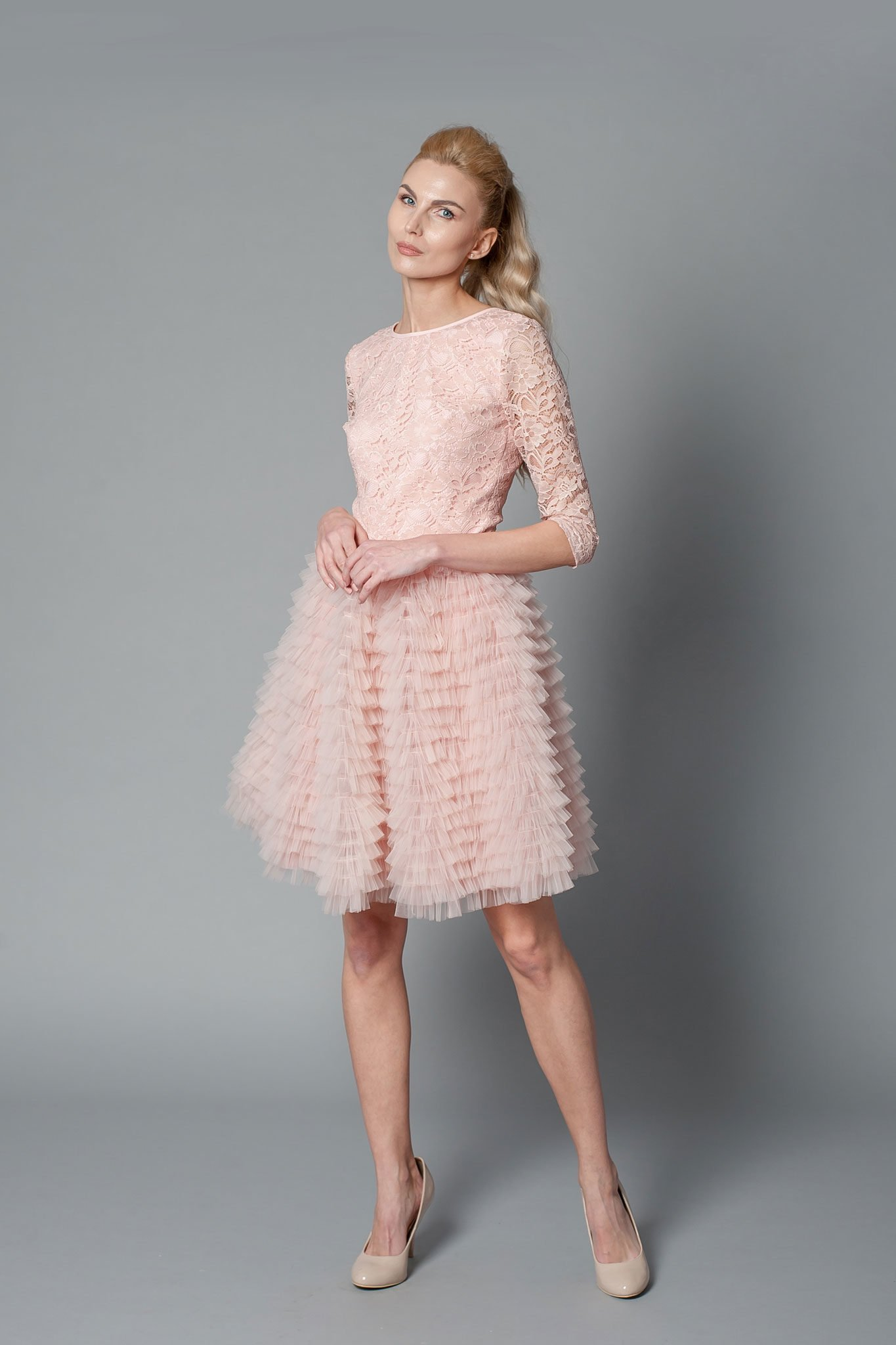 Crepe mother of the bride dress